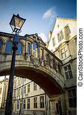 Oxford University - The famous Bridge of Sighs connecting...