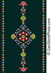 Polish embroidery pattern - polish pattern folk