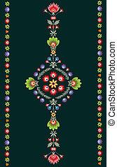 Polish embroidery pattern - polish pattern folk