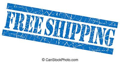 Free shipping blue grunge stamp