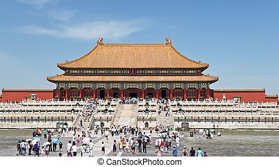 Forbidden city temple - Temple in the forbidden city with...