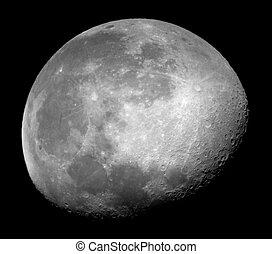 Waning Moon close up - Waning