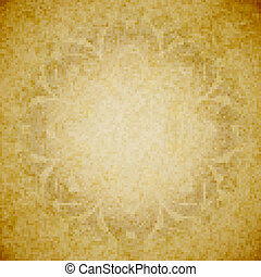 Aged paper background with ornament