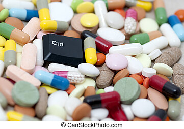 Ctrl control key among drugs - Ctrl control key lying among...