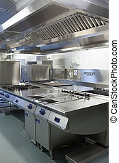 Picture of hotel kitchen in chrome