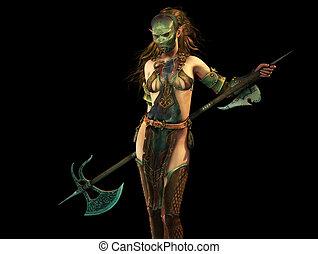 Slayer Woman 3d Computer Graphics - 3d fantasy computer...