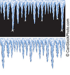 vector shiny icicles - vector backgrounds of shiny icicles