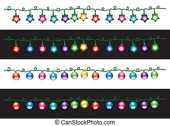 vector christmas electric light lamps - vector decorative...