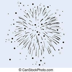 vector  fireworks with stars and sparkles