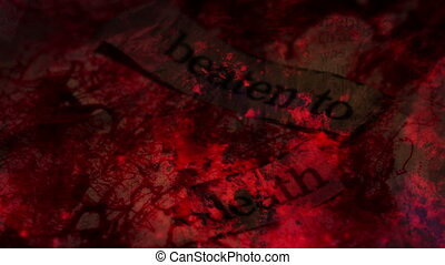 Beaten To Death Horror Background Word Looping Background,...