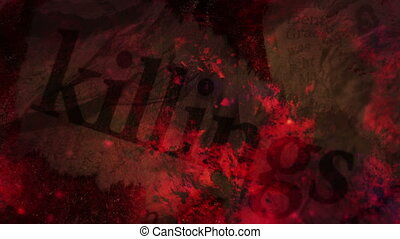 Killings Horror Background Word Looping Background, mixed...