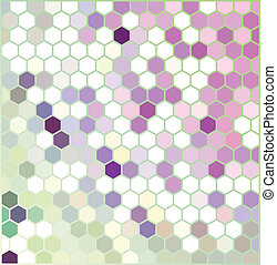 Violet Hexagonal Pattern - Vector background with colorful...