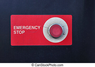 Emergency stop button of gasoline station for safety