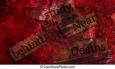 Study Behind Near Deaths Word Looping Background, mixed...