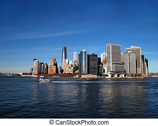 Lower Manhattan Along Waterfront - Lower Manhattan, NYC,...
