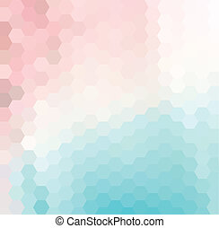 Hexagonal Pattern - Vector background with colorful...