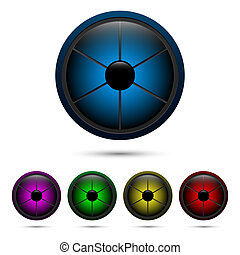 Segmented buttons - Set of segmented buttons from six...