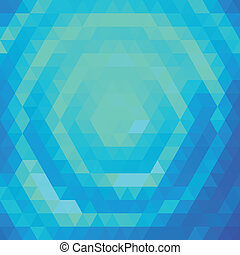 Blue and green grid pattern - Vector background with blue...