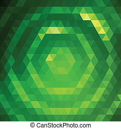 Green grid pattern - Vector background with green triangular...
