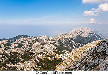 Top of Biokovo mountains in Croatia View from sv Jure peak...
