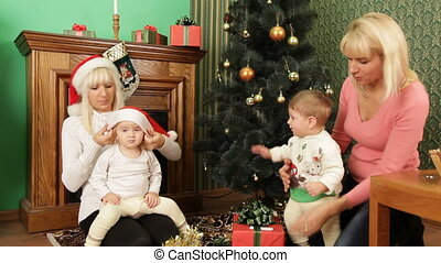 Children on Christmas Eve - Children and their parents...