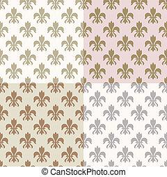 seamless gold fleur de lys pattern