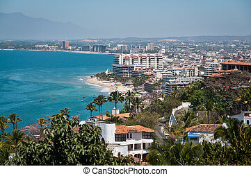Puerto Vallarta, Mexico - Puerto Vallarta city and Banderas...
