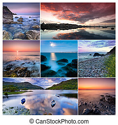 Ireland - Collage of beautiful landscapes from Republic of...