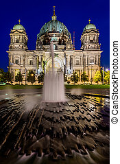 Cathedral in Berlin, Germany, at night