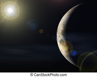 planet  and the sun