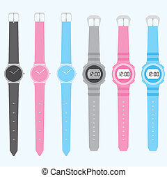 reloj, vector