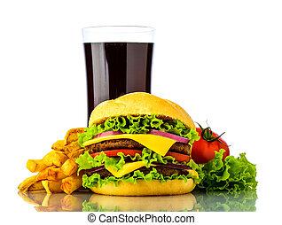 hamburguesa, menú