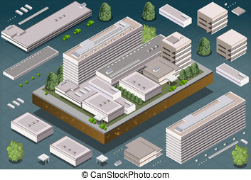 Isometric Building - Detailed illustration of a Isometric...
