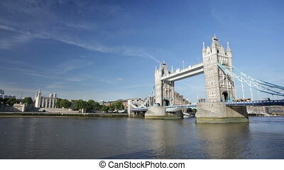 Tower Bridge time lapse in London - Time lapse sequence of...