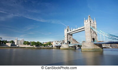 Tower Bridge Timelapse - Long exposure time lapse sequence...