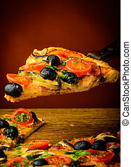 traditional homemade pizza - traditional italian homemade...