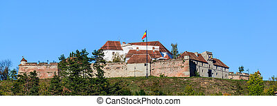 brasov fortress in romania - panorama with brasov...