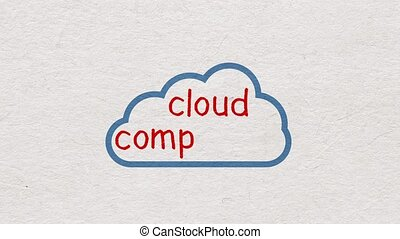 Concept of Cloud computing - Cloud computing. Hand written...