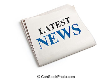 Latest News, Newspaper with white background