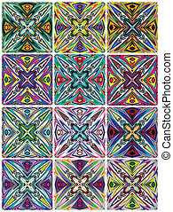 Native American patterns - Textures with spiritual symbols...