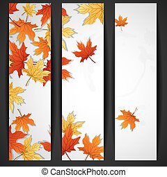Autumn Leaves Background Vector Illustration Eps 10