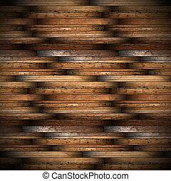 ancient mahogany wood floor design