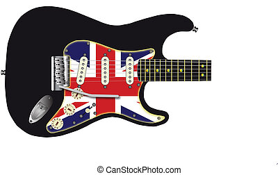 Union Jack Guitar - A traditional solid body electric guitar...
