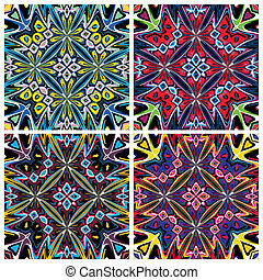 Native American patterns - Seamless textures with spiritual...