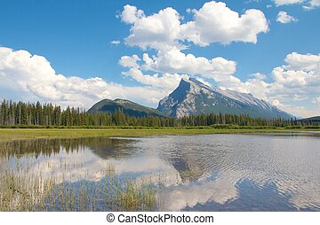Vermillion Lakes - View on beautiful Vermillion Lakes near...