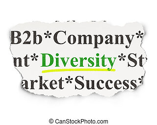 Business concept: Diversity on Paper background
