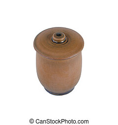 Handmade Ceramic vessel with a lid