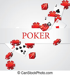 Cards Chips Dice Poker
