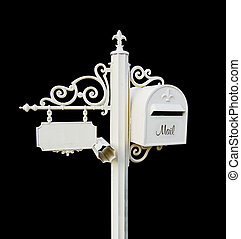 Letter box - white ornamental Letter box with a facility to...