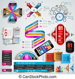 Mega Collection of quality Infographics objects . A lot of...